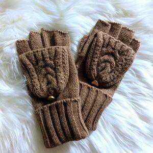 Convertible Knit Fingerless Glove Mittens